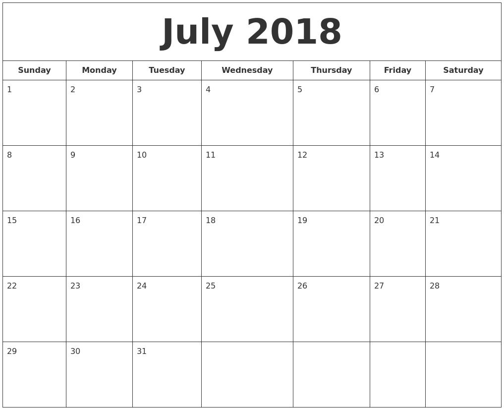 april 2018 calendars