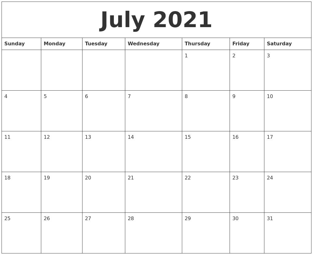 June Printable Calendar 2021 Word July 2021 Word Calendar