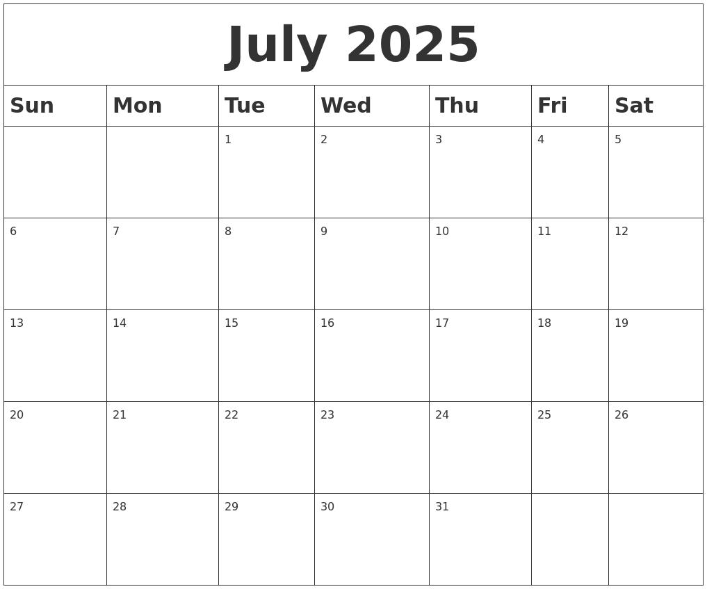 March 2025 Calendar