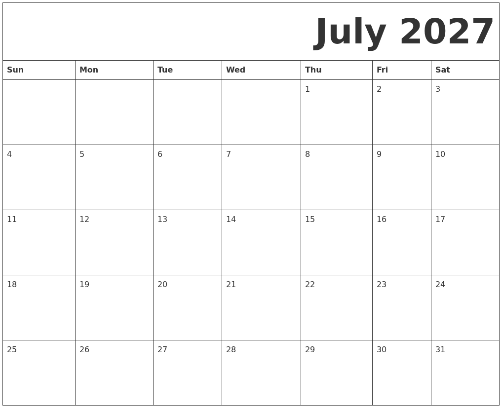 Free Printable Calendar 2018 By Month
