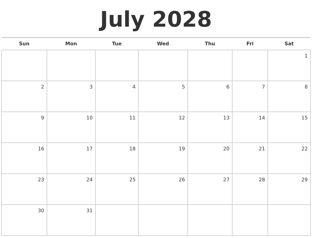 calendar blank template