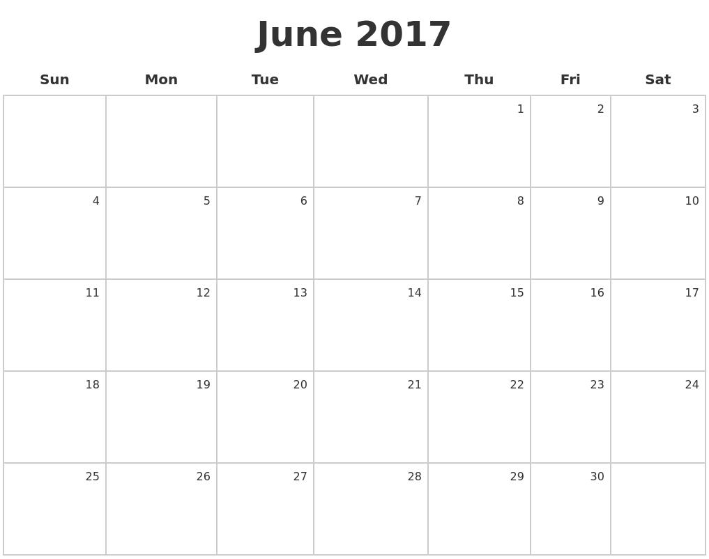 June Calendars