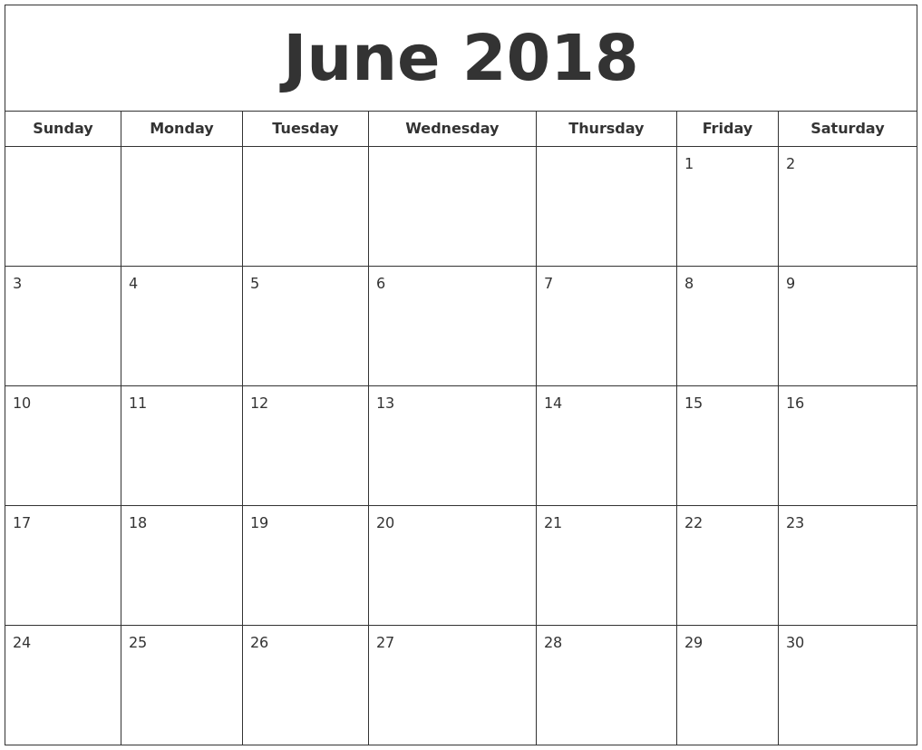Calendar Template July 2019 Word