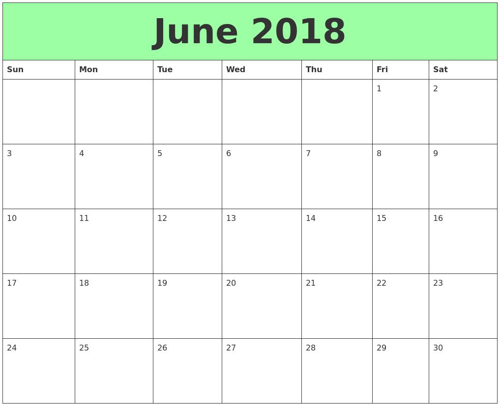June Calendar Pictures : June printable calendars