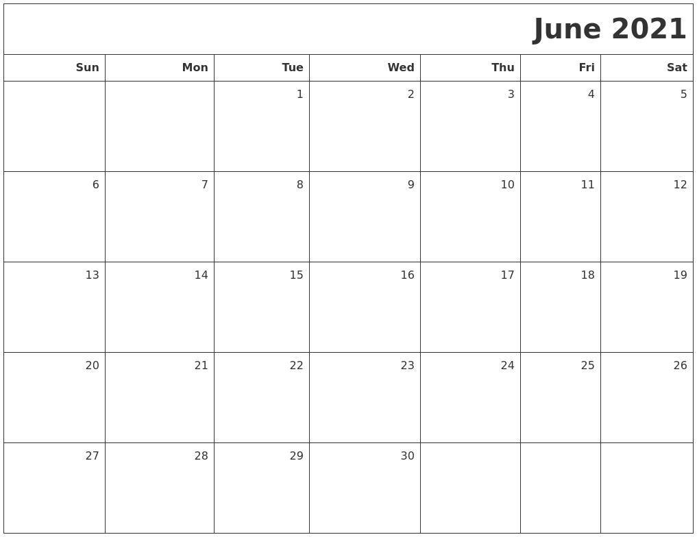 July 2021 Free Online Calendar