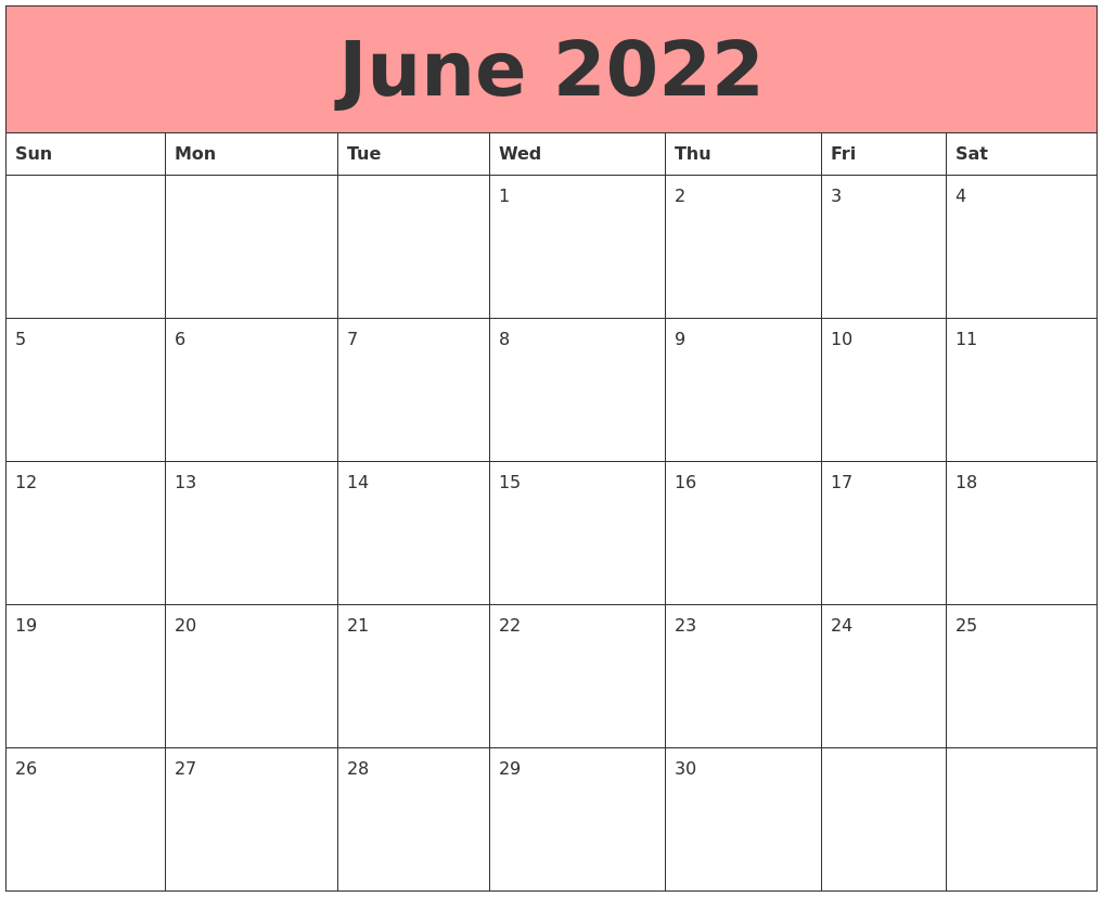 June 2022 Calendars That Work