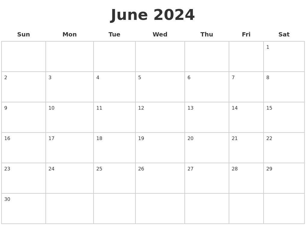 April 2024 Calendar Maker