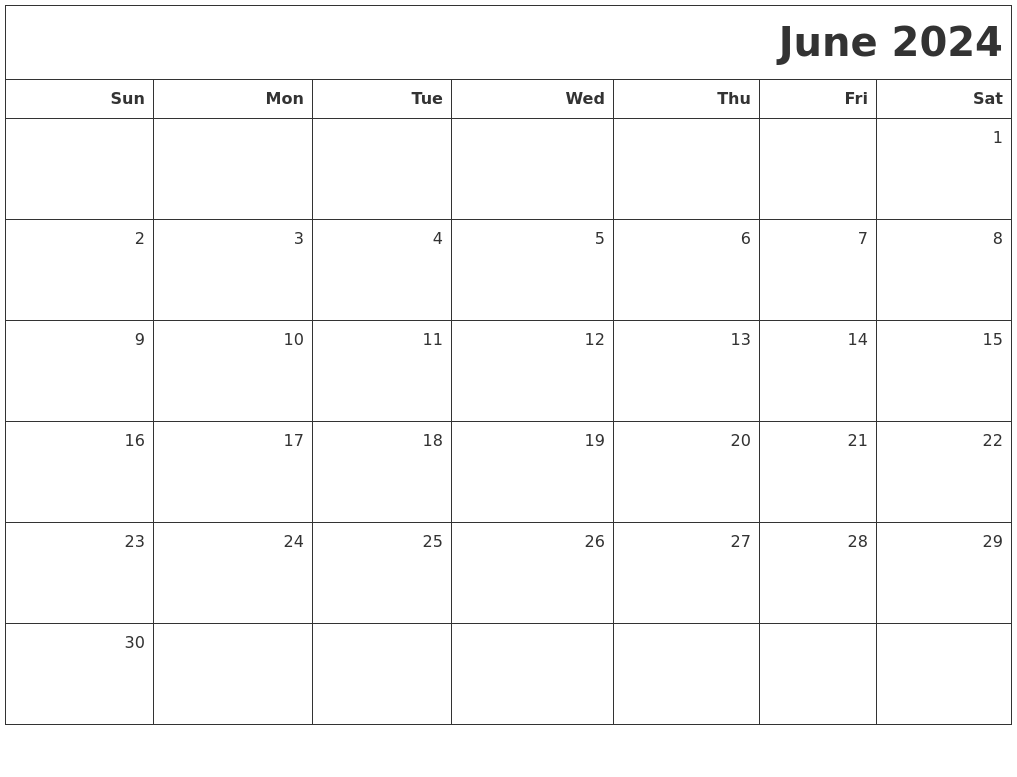 October 2024 Monthly Calendar Printable