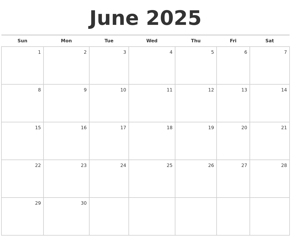 March 2025 Print A Calendar