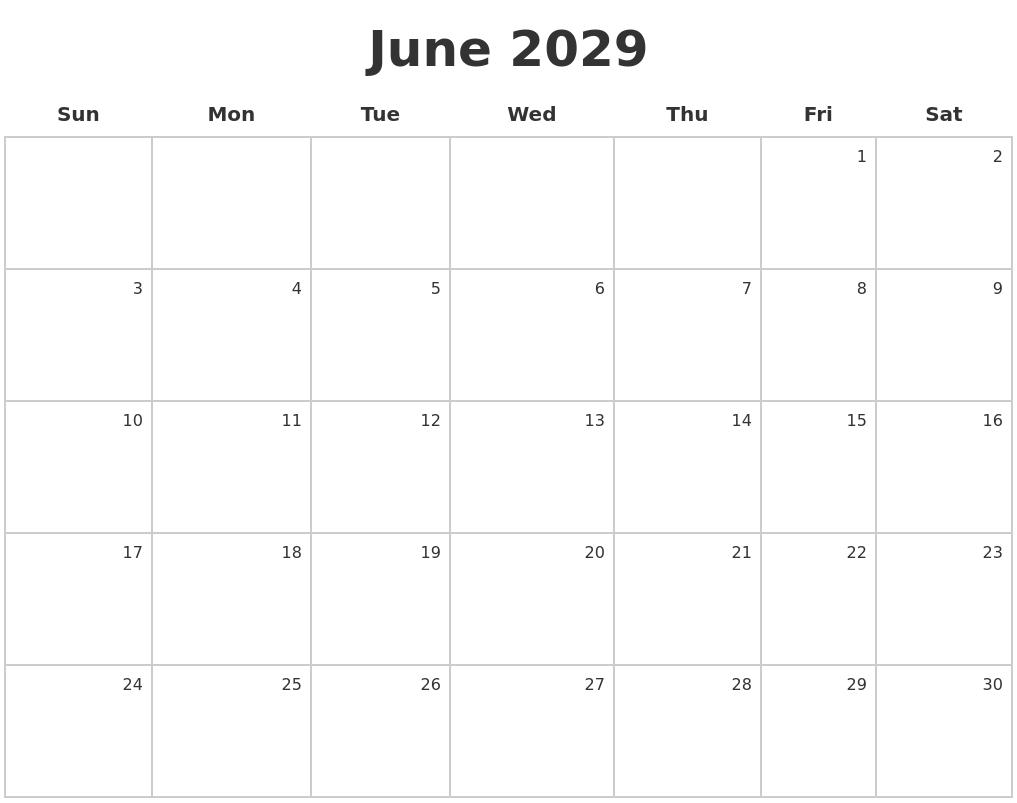 March 2029 Calendars Free