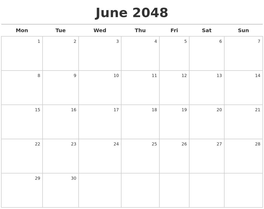 june 2048 calendar maker