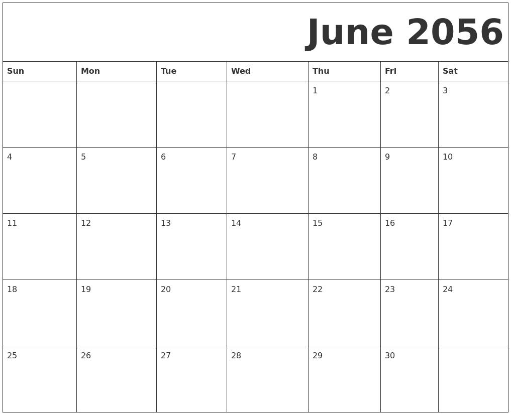 July 2056 Printable Calendars