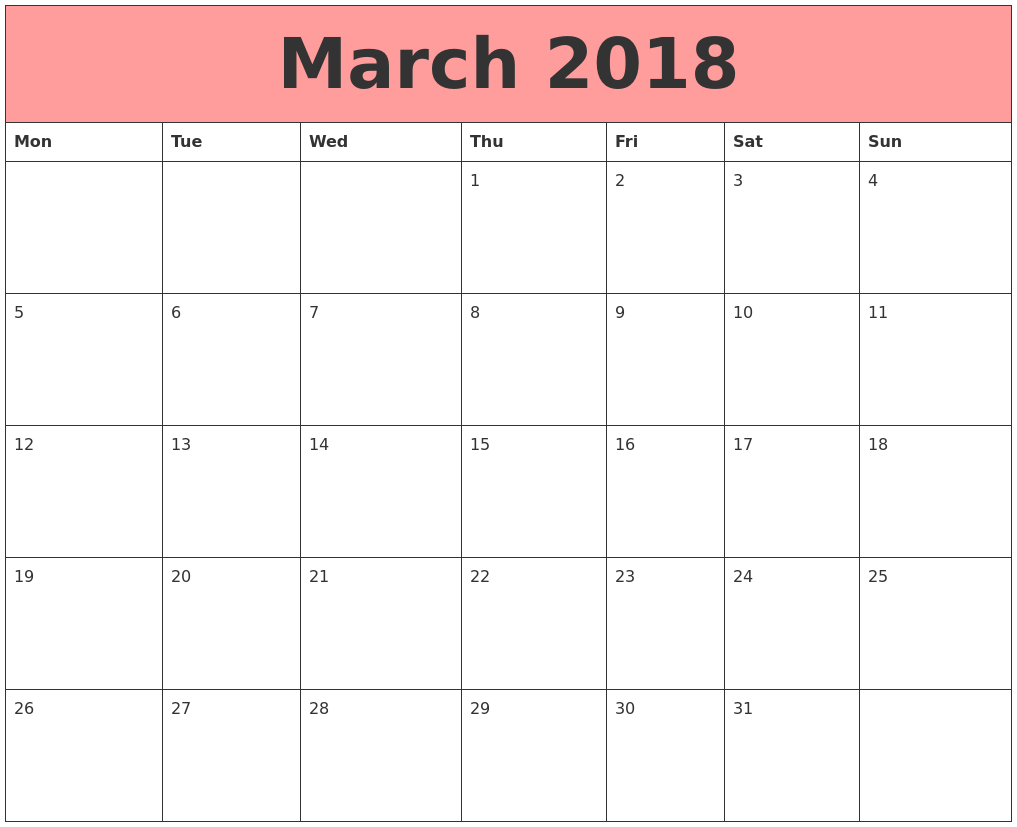March Calendar Zoom : March calendars that work