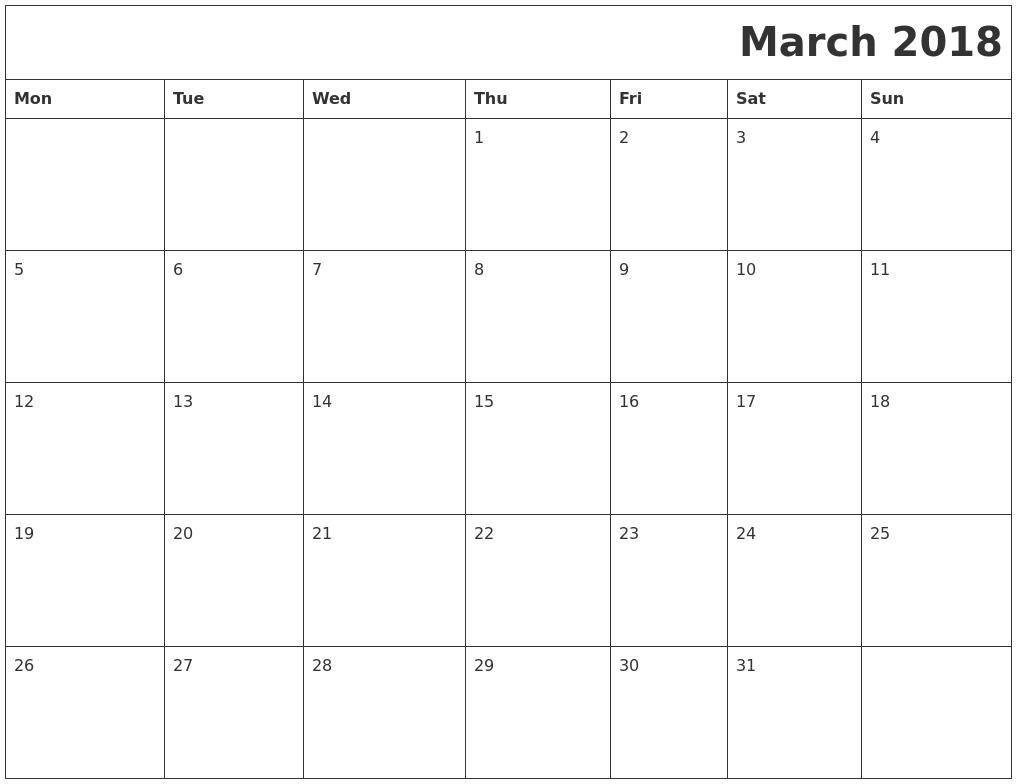 printable calendar 2018 pdf