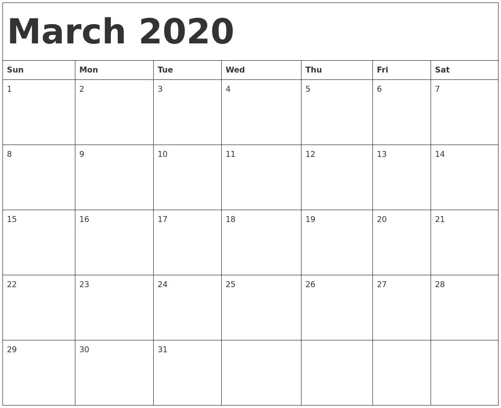 calendar templte