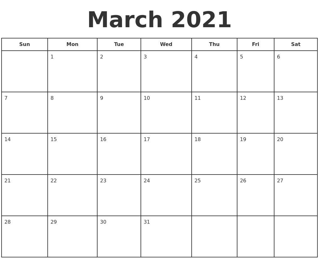 December 2020 Free Calendar Template