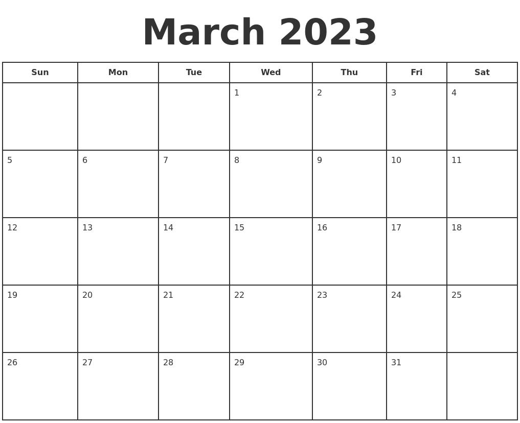 March Calendar Zoom : December free calendar template