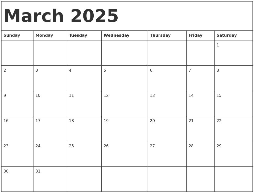 Image Gallery march 2025 calendar