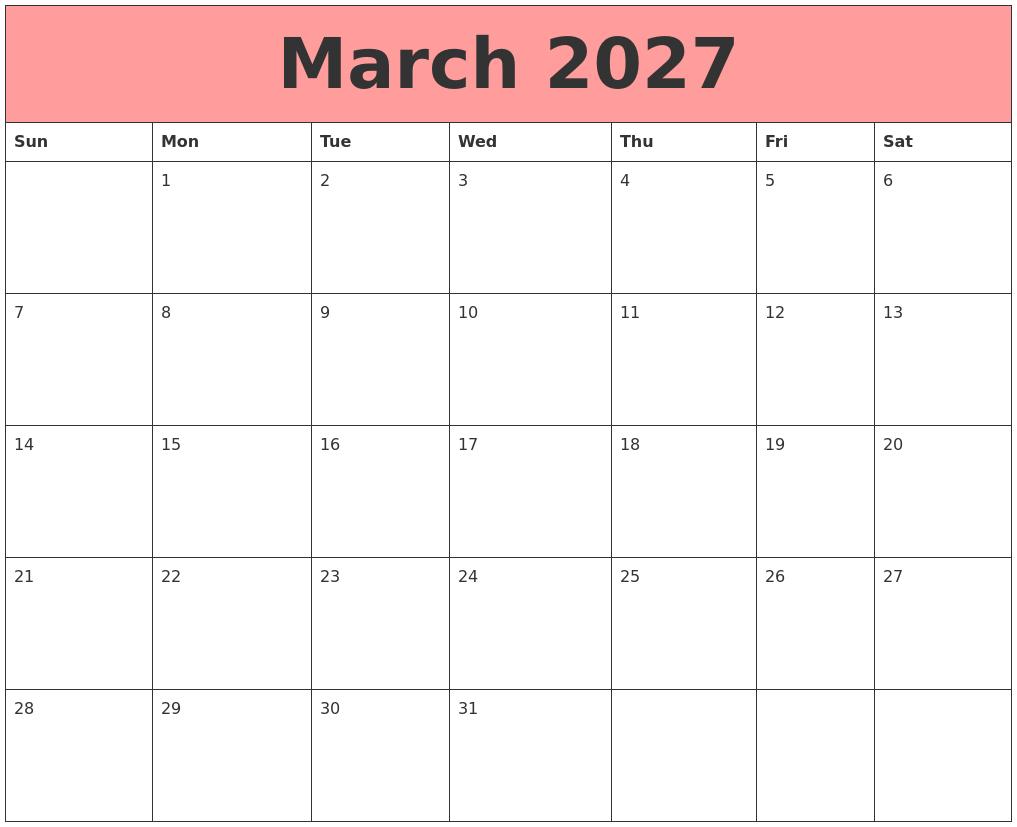March Calendar Zoom : September calendar template