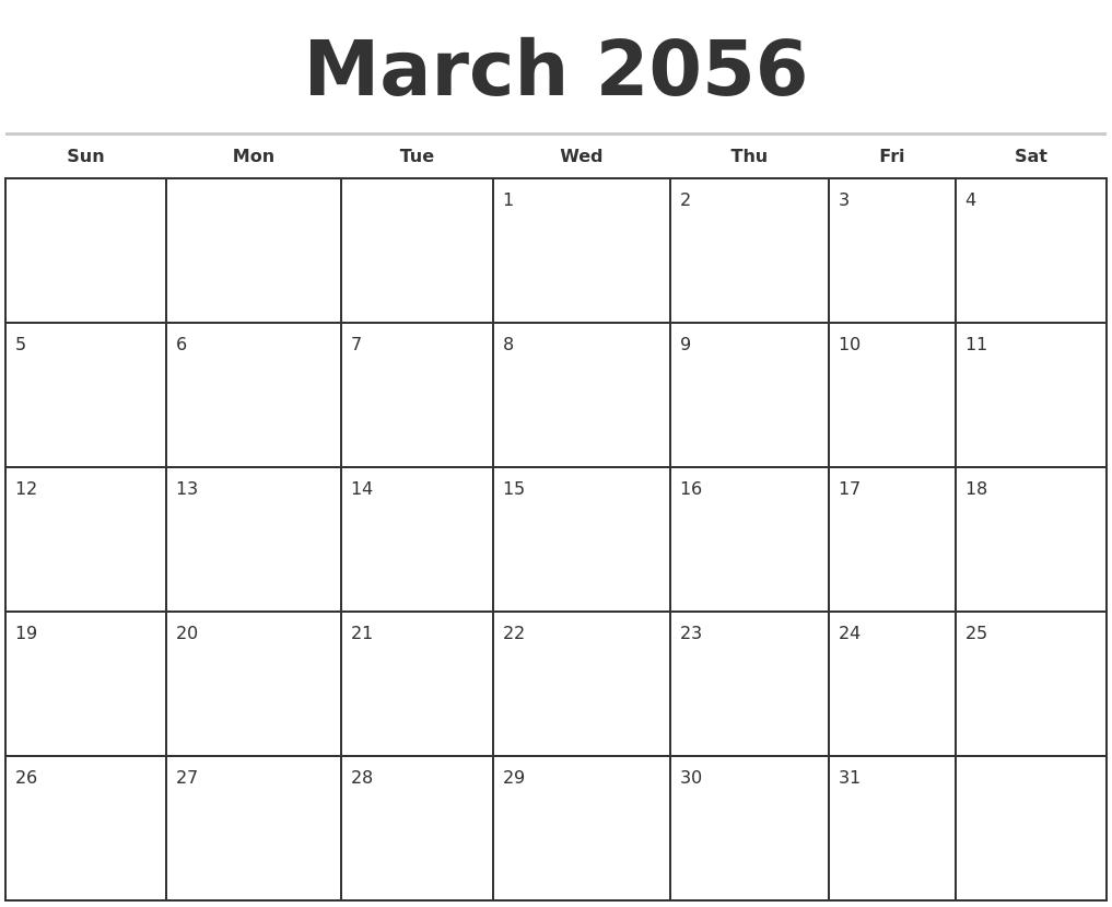 November 2055 Free Calendar Template