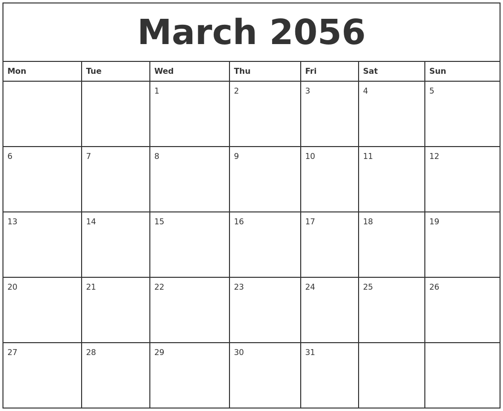 March Calendar Zoom : March printable monthly calendar