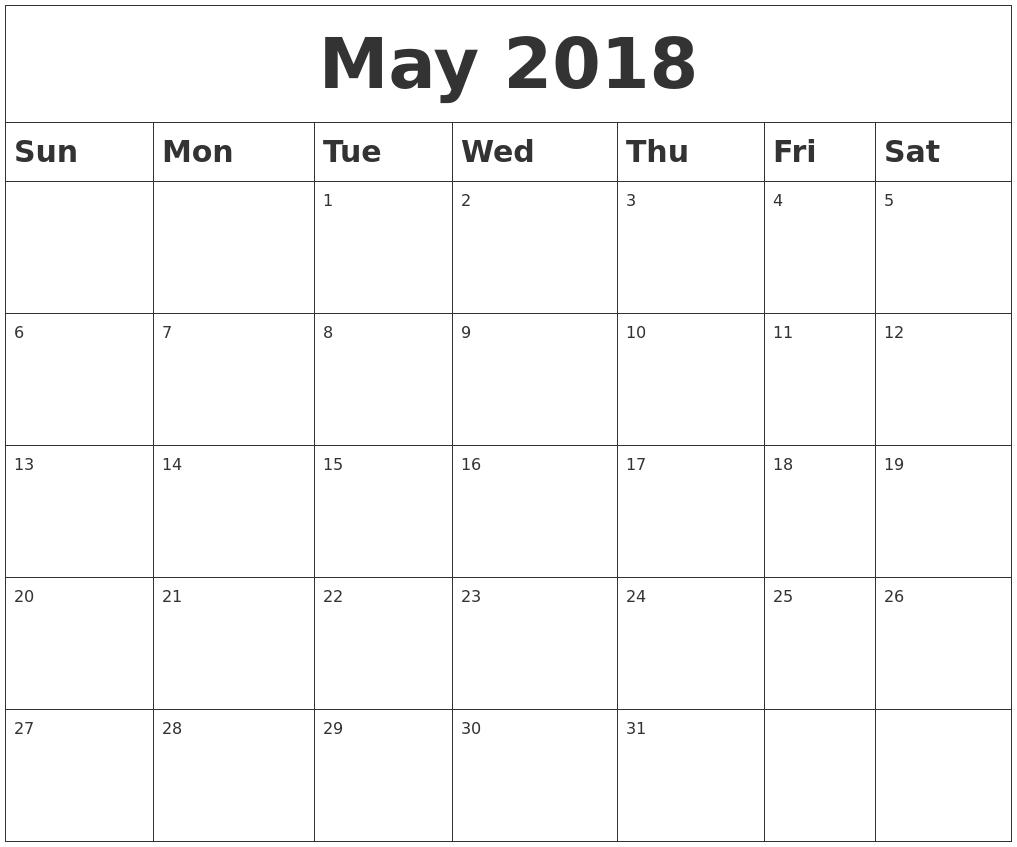 Blank Calendar May Printable : January calendar
