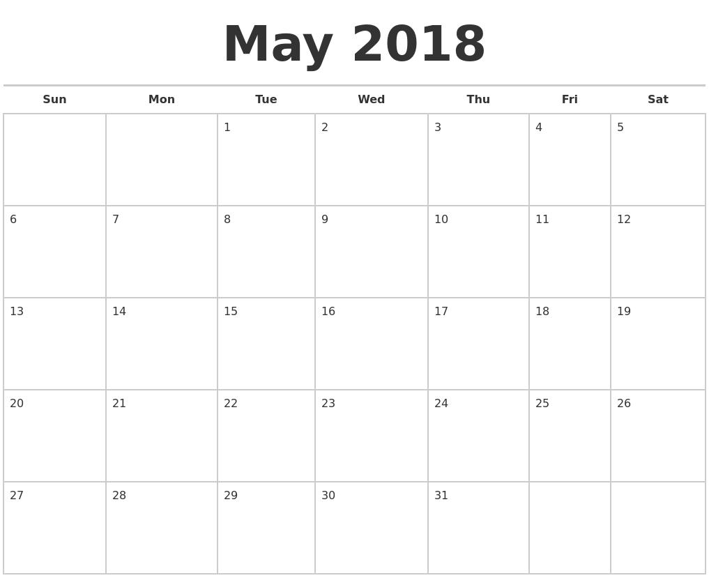 Calendar Planner May : May calendars