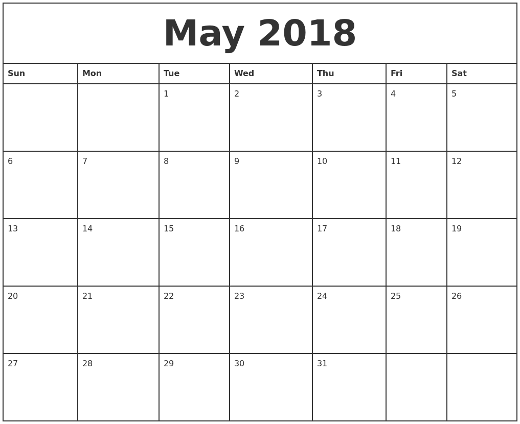 printable monthly calender