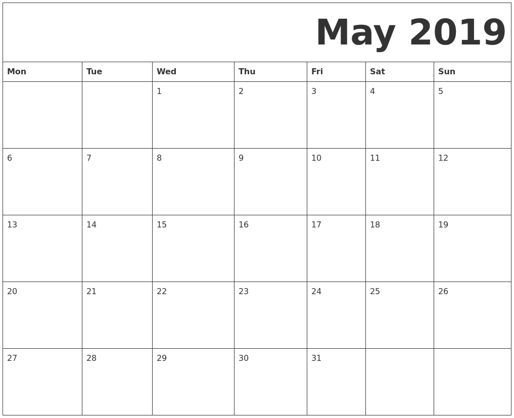 Calendar September 2019 With Lines