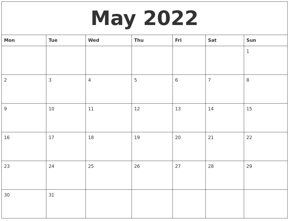 May 2022 Calendar Wallpaper.May 2022 Calendar