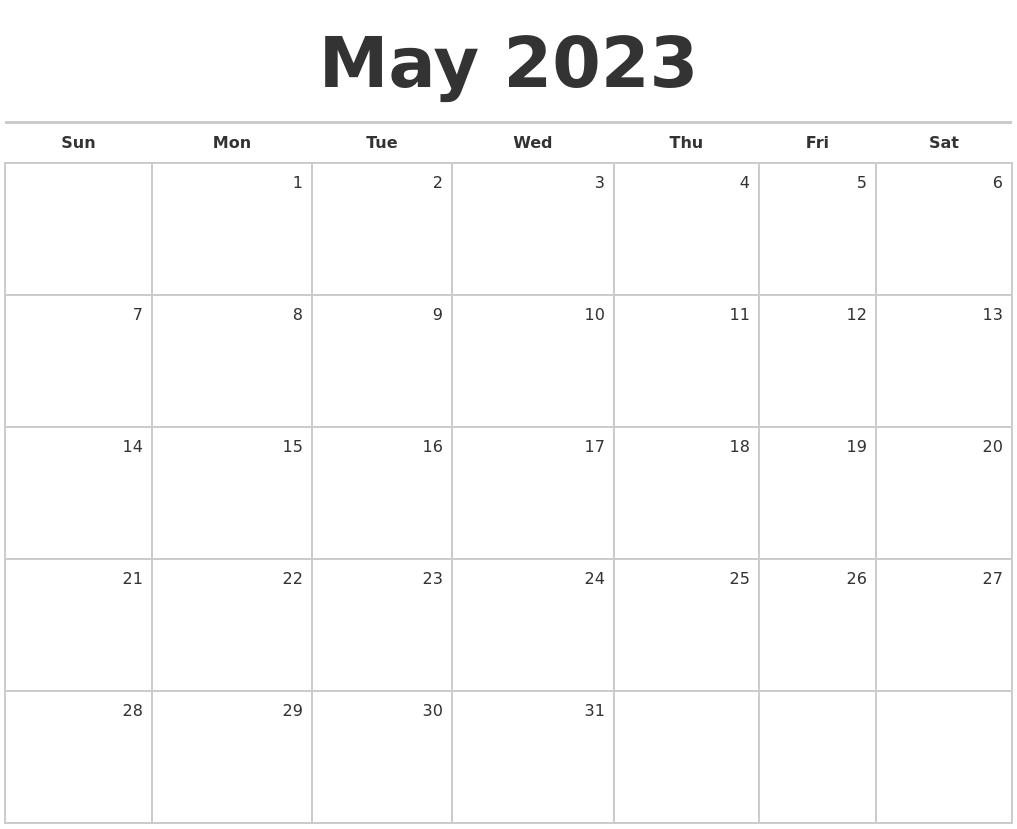 November 2023 Calendar Maker