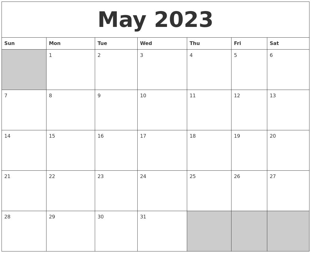 January 2023 Download Calendar