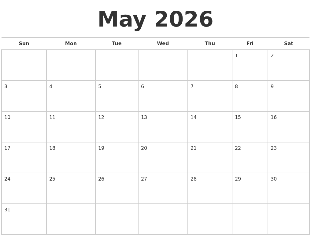 February 2026 Print Free Calendar