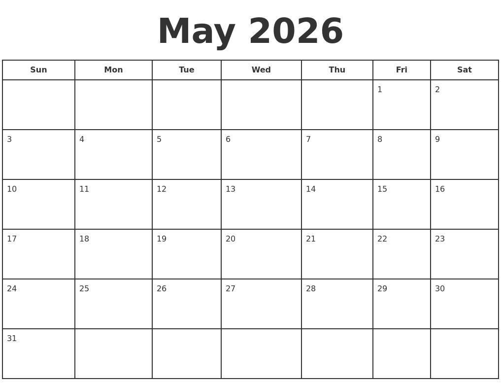 november 2026 monthly calendar template