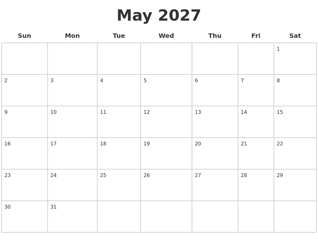May Calendar Sheet : January calendars free