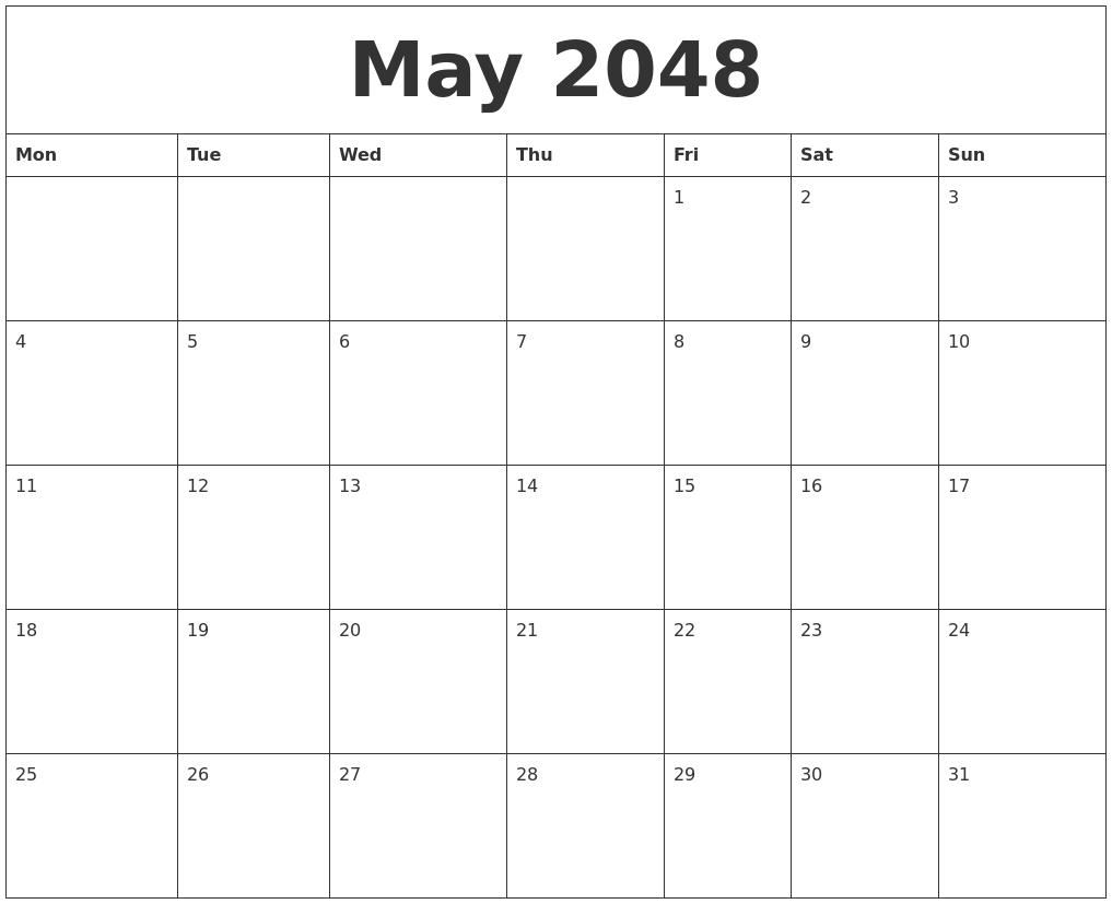 may 2048 online printable calendar