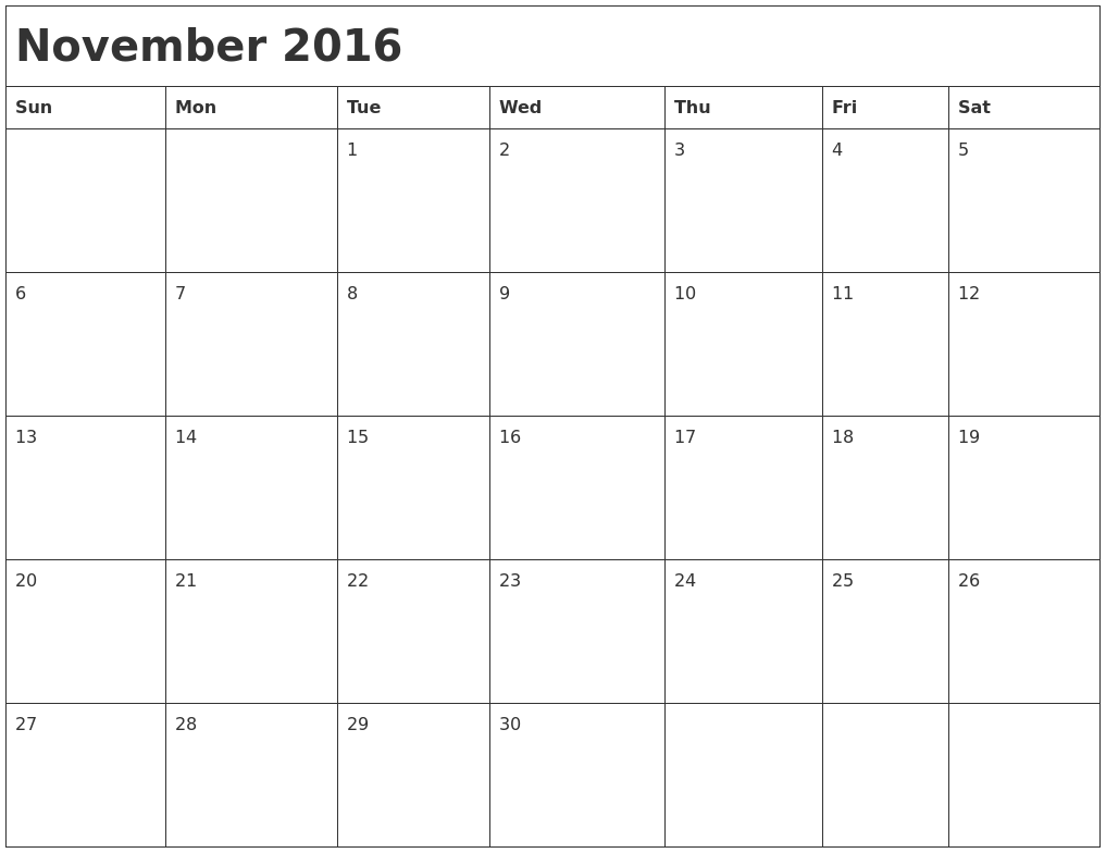 Monthly Calendar November : November calendars