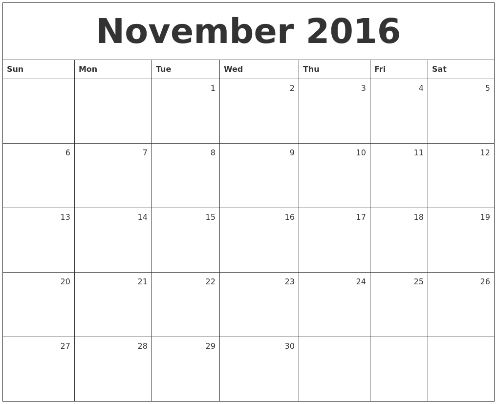 Monthly Calendar Nov : November calendars