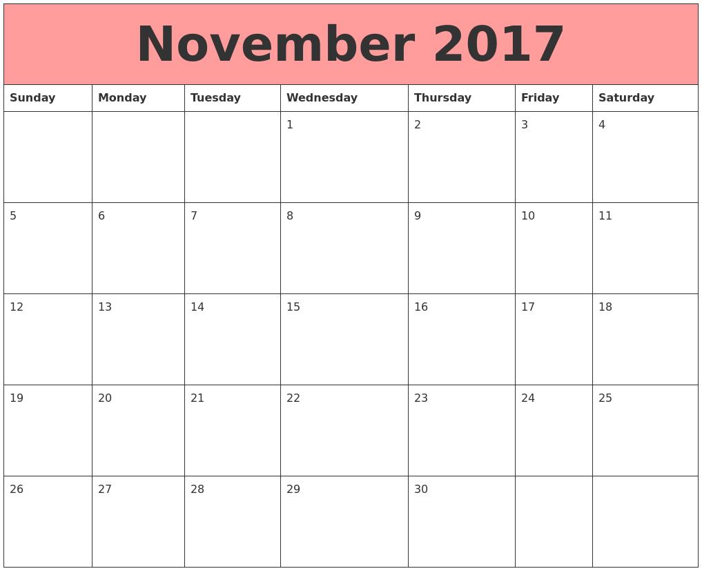 2017 Calendars That Work