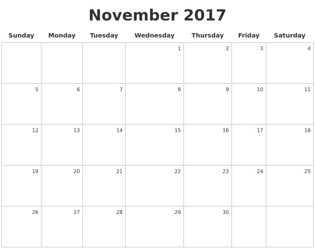 2017 Make A Calendar