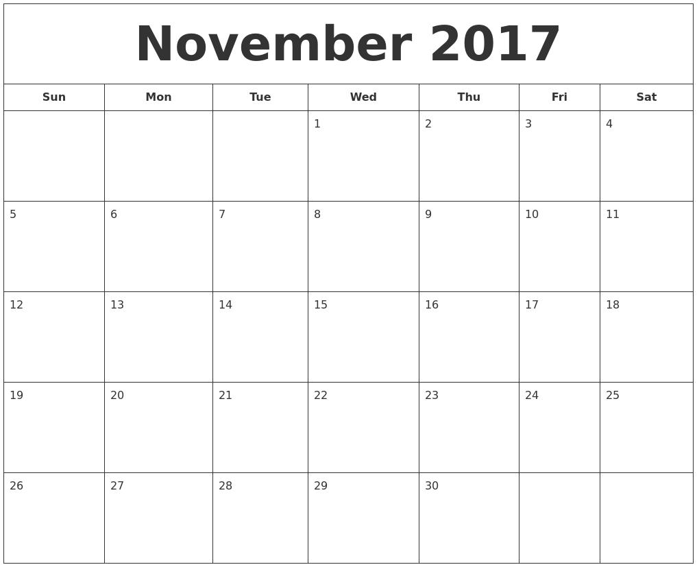 october 2017 calendar november 2017 printable calendar