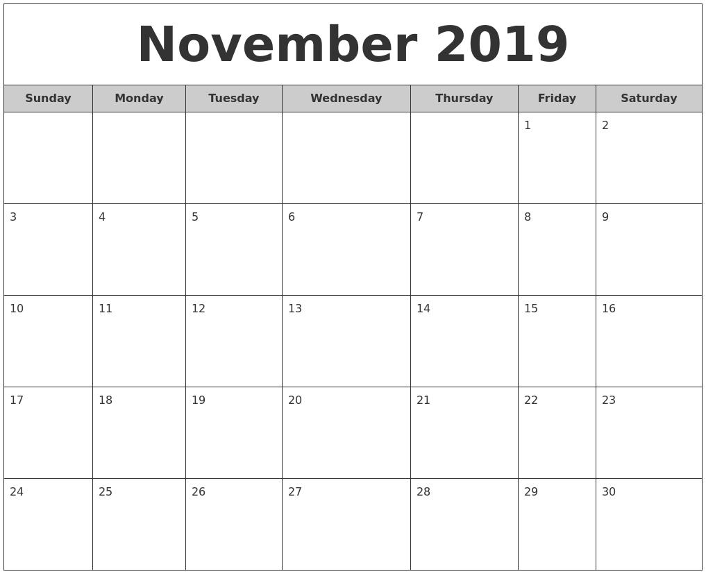 Monthly Calendar November : Thanksgiving calendar related keywords