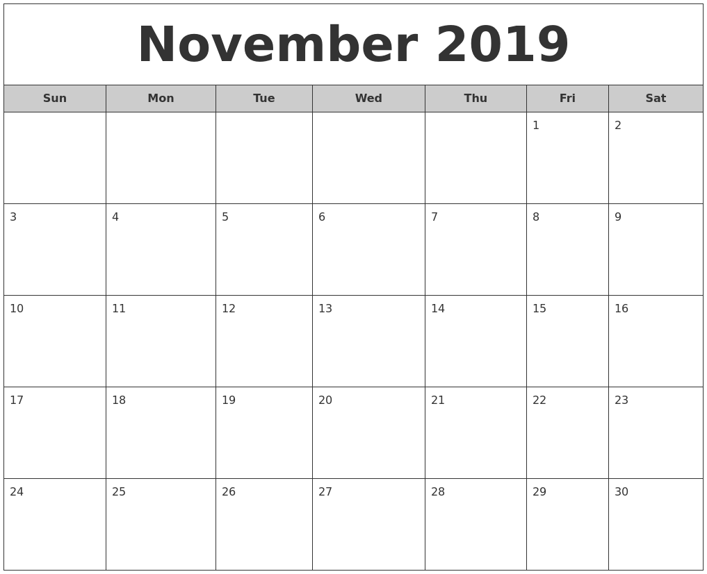 printable free monthly calendars