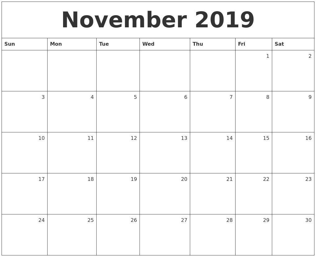 It's just a photo of Universal Free Printable Calendars Nov 2020