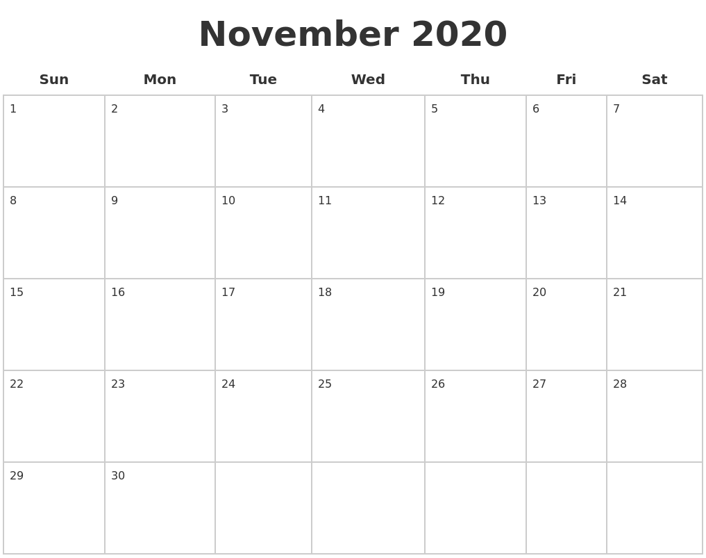 calendar blank 2020 november calendars monthly print pages 2029 2048 printable june april month august february calendarzoom zoom