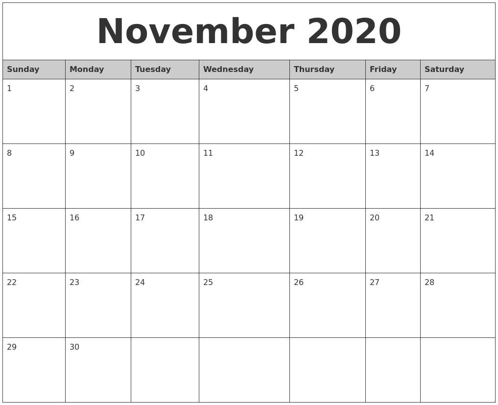 calendar 2020 november printable july monthly 2029 october august 2021 2028 calendarzoom advertisement