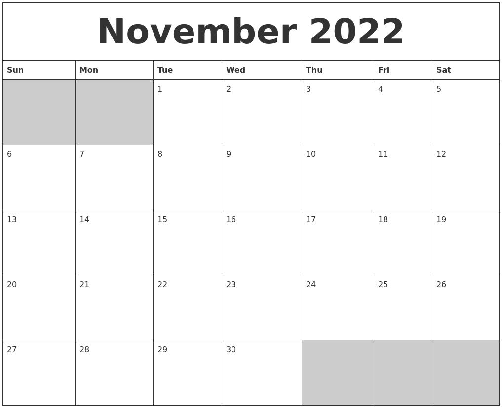 Calendar Typography Zoom : September printable calender