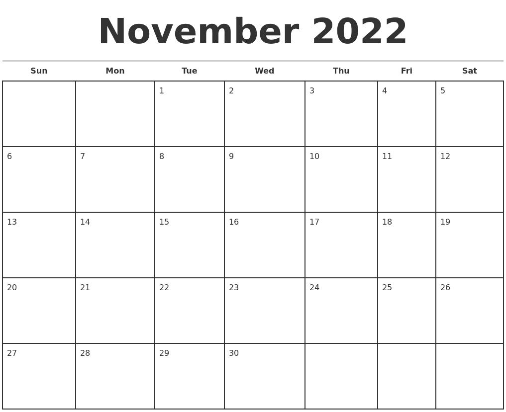 Monthly Calendar November : March calendar maker