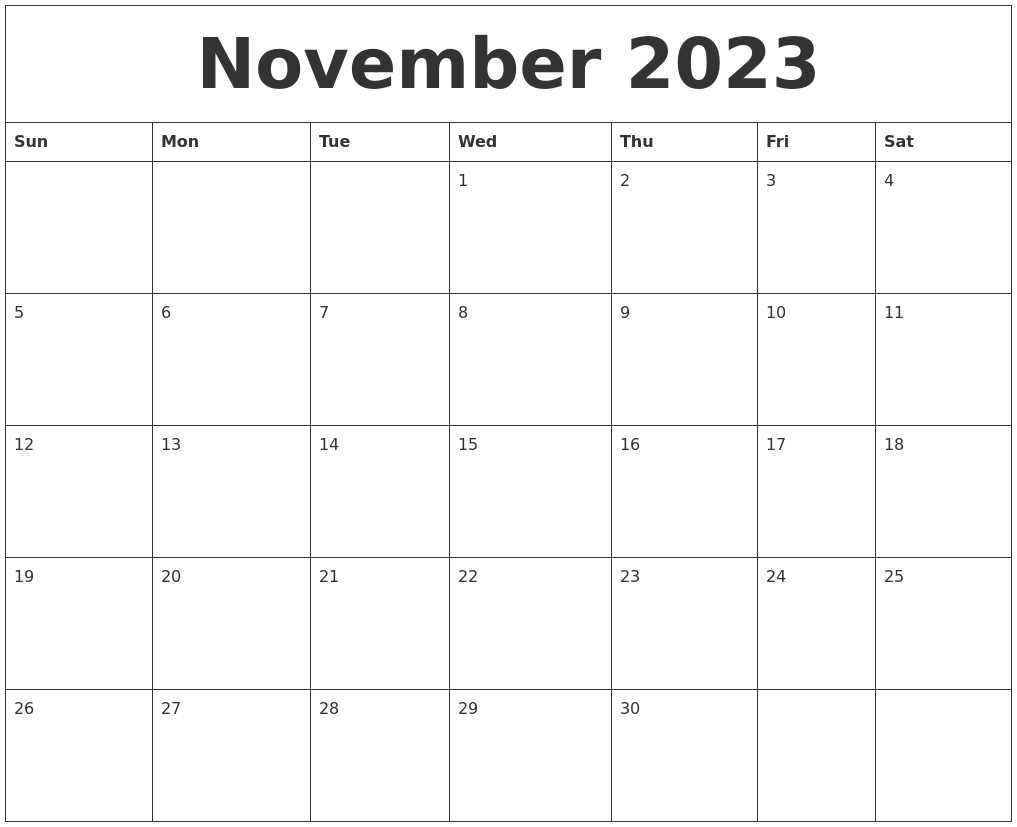 October 2023 Free Monthly Printable Calendar