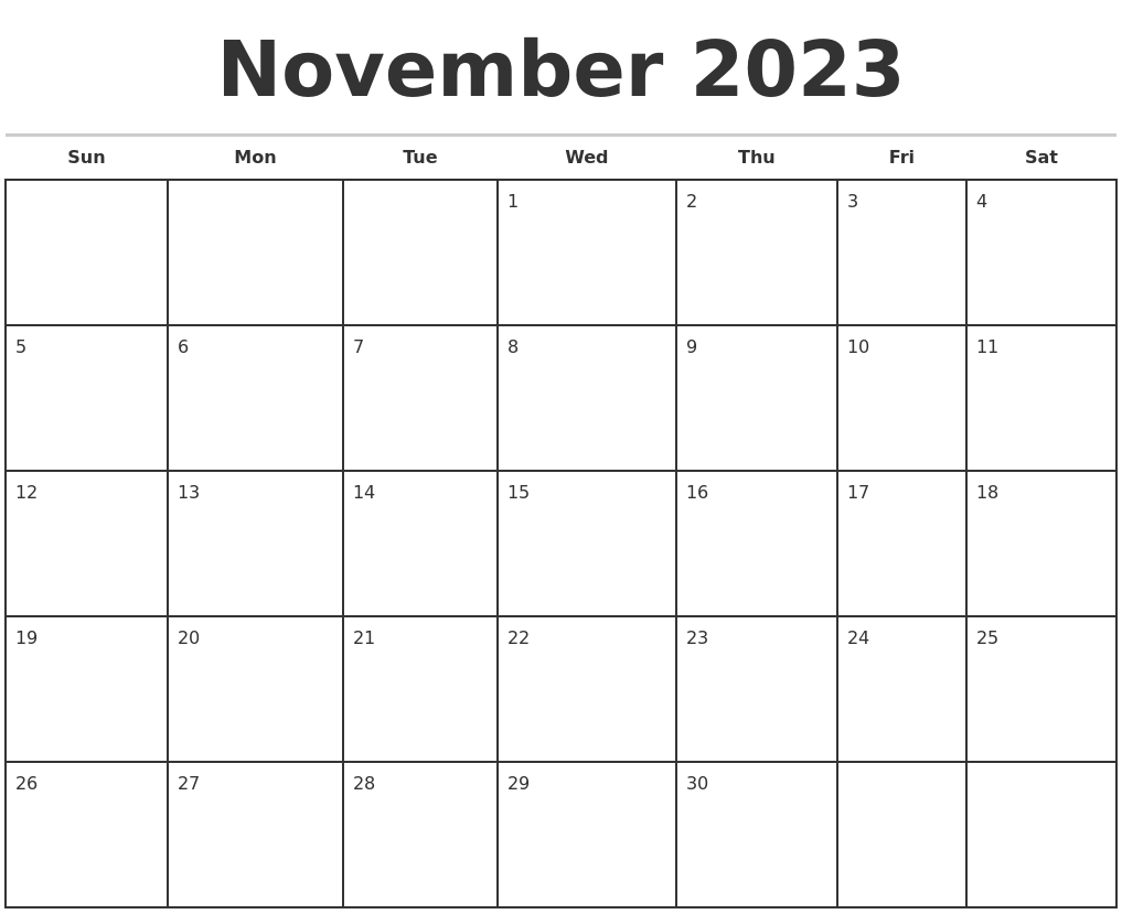 November Monthly Calendar : March calendar maker